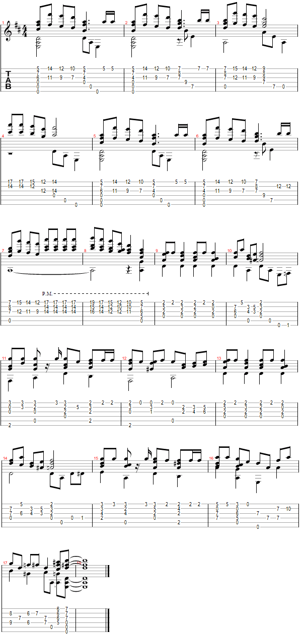 Tablature for Jingle Bells - Breakdown Part 2