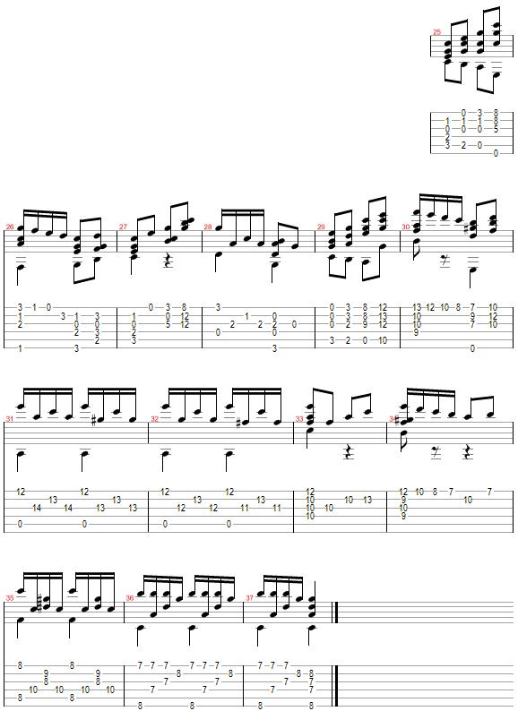 Tablature for Have Yourself a Merry Little Christmas - Part 3