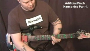 Online Guitar Lessons - Artificial/Pinch Harmonics - Part ...
