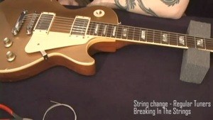 Online Guitar Lessons - String Change - Regular Tuners & B...