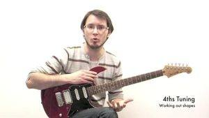 Online Guitar Lessons - Tuning in 4ths - Working Out Shape...