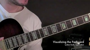 Online Guitar Lessons - Visualizing the Fretboard - Lydian...