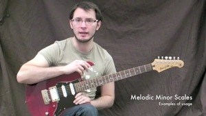 Online Guitar Lessons - Melodic Minor Scales - Chords In U...