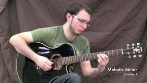 Online Guitar Lessons - Melodic Minor Scales - Example Imp...