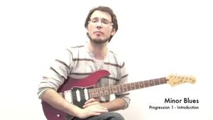 Online Guitar Lessons - Minor Blues - Progression 1