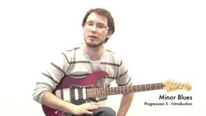 Online Guitar Lessons - Minor Blues - Progression 5