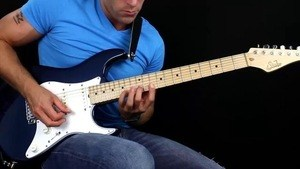 Online Guitar Lessons - Intervallic Fusion lick in B Doria...